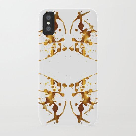 Symmetria Gold 1 iPhone Case