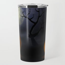 II - Halloween pumpkins in a spooky forest at night Travel Mug