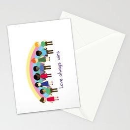 Love always wins Stationery Cards