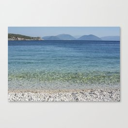 Sea in Greece Canvas Print