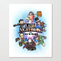 cryaotic Canvas Prints featuring Smash LNC by soo-da