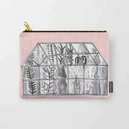 Pink greenhouse illustration Carry-All Pouch