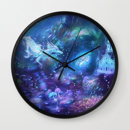 Water Dragon Kingdom Wall Clock