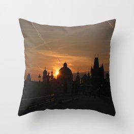 Sunrise Charles Bridge Throw Pillow