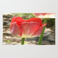 transparent Area & Throw Rugs featuring Transparent Tulip by Paula's Pictures