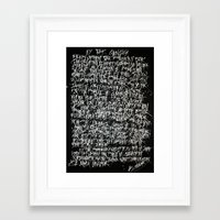 calligraphy Framed Art Prints featuring calligraphy by nihal ekinci