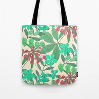 botanical Tote Bags featuring Botanical by Louise Elizabeth