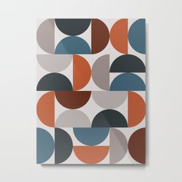 Mid Century Modern Geometric 25 Metal Print