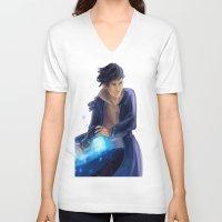 bane V-neck T-shirts featuring Magnus Bane by taratjah