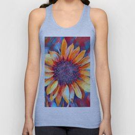 Sunflower Watercolor Unisex Tank Top