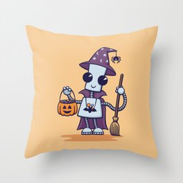 Ned's Halloween Witch Throw Pillow