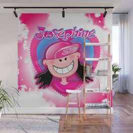 Josephine in Heart Wall Mural
