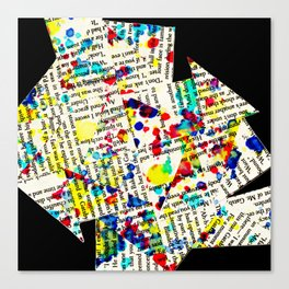 mixed up stories Canvas Print