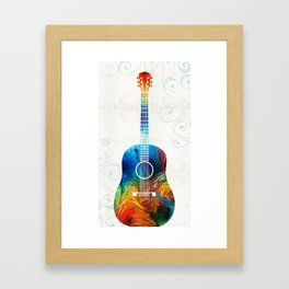 Colorful Guitar Art by Sharon Cummings Framed Art Print