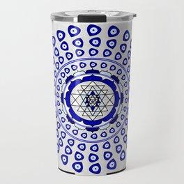 108 Evil Eye Sri Yantra Travel Mug