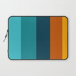 Sunflower Colorful Stripes Laptop Sleeve