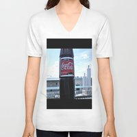 coke V-neck T-shirts featuring Industrial Coke by Vorona Photography