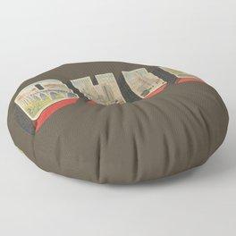 Vintage Ohio Big Letter Floor Pillow