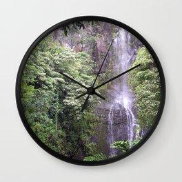 Maui Hawaii - Haleakala National Park Waterfall Wall Clock