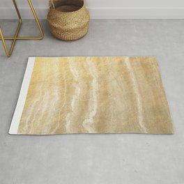 Marble motion - gold Rug
