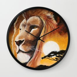 Animal - Lion - Quiet strength - by LiliFlore Wall Clock