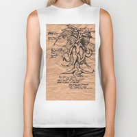 lovecraft Biker Tanks featuring Lovecraft Series: the Old Ones by Furry Turtle Creations