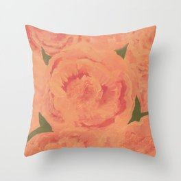 Peony: Paeonia Suffruticosa Throw Pillow