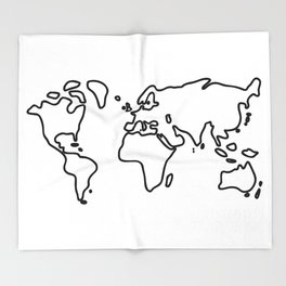world globe Throw Blanket