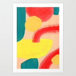 Abstract Figures Art Print