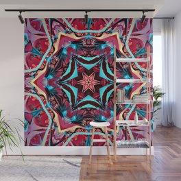 Fractal Art - Pink Kaleidoscope Wall Mural