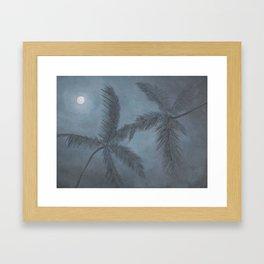 Moon Palm Framed Art Print