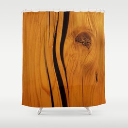 Rustic wooden texture pattern Shower Curtain