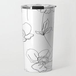 Botanical illustration drawing - Botanicals White Travel Mug