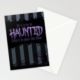 Be it ever so Haunted, there's no place like Home - Dark Gray Stationery Cards