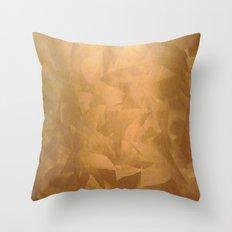 Beautiful Copper Metal - Corporate Art - Hospitality Art - Modern Art Throw Pillow