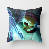 big hero 6 Throw Pillows featuring Big Hero 6- Wasabi by prpldragon