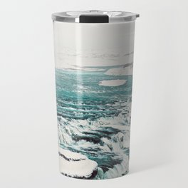 Gullfoss Waterfall Travel Mug