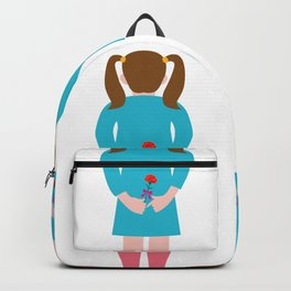Girl with the flower Backpack