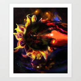 SUN flower black hole dark star Art Print