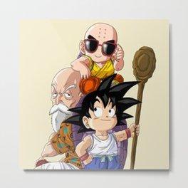 Goku & Krilin Metal Print