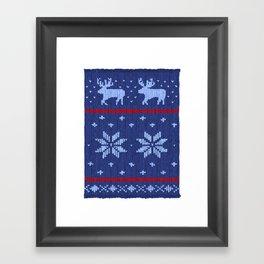 Winter Lovers Christmas Framed Art Print