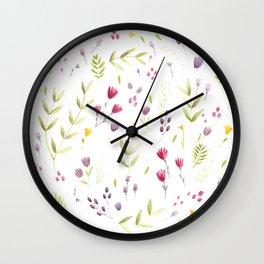 Berry Bouquet Wall Clock