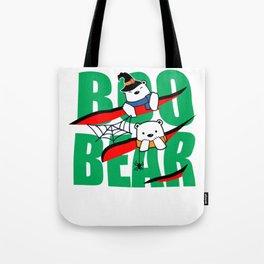 Boo Bear Cute Teddy Bear Polar Bear Halloween Couples Light Tote Bag