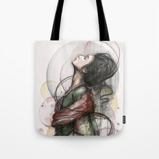 Beauty Illustration Beautiful Woman Feminine Portrait Tote Bag