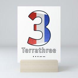 Terrathree - Navy Code Mini Art Print