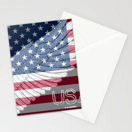 """ USA Wing And Flag "" Stationery Cards"