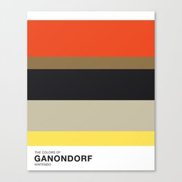 The Colors of Ganondorf Canvas Print