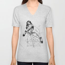 Samael Lilith and the Golden ratio Unisex V-Neck