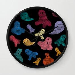 Happy ghosts Wall Clock