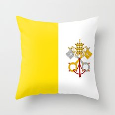 Flag Of Vatican City Throw Pillow